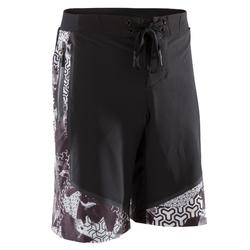 Sporthose kurz Shorts 900 Crosstraining Herren schwarz/weiß