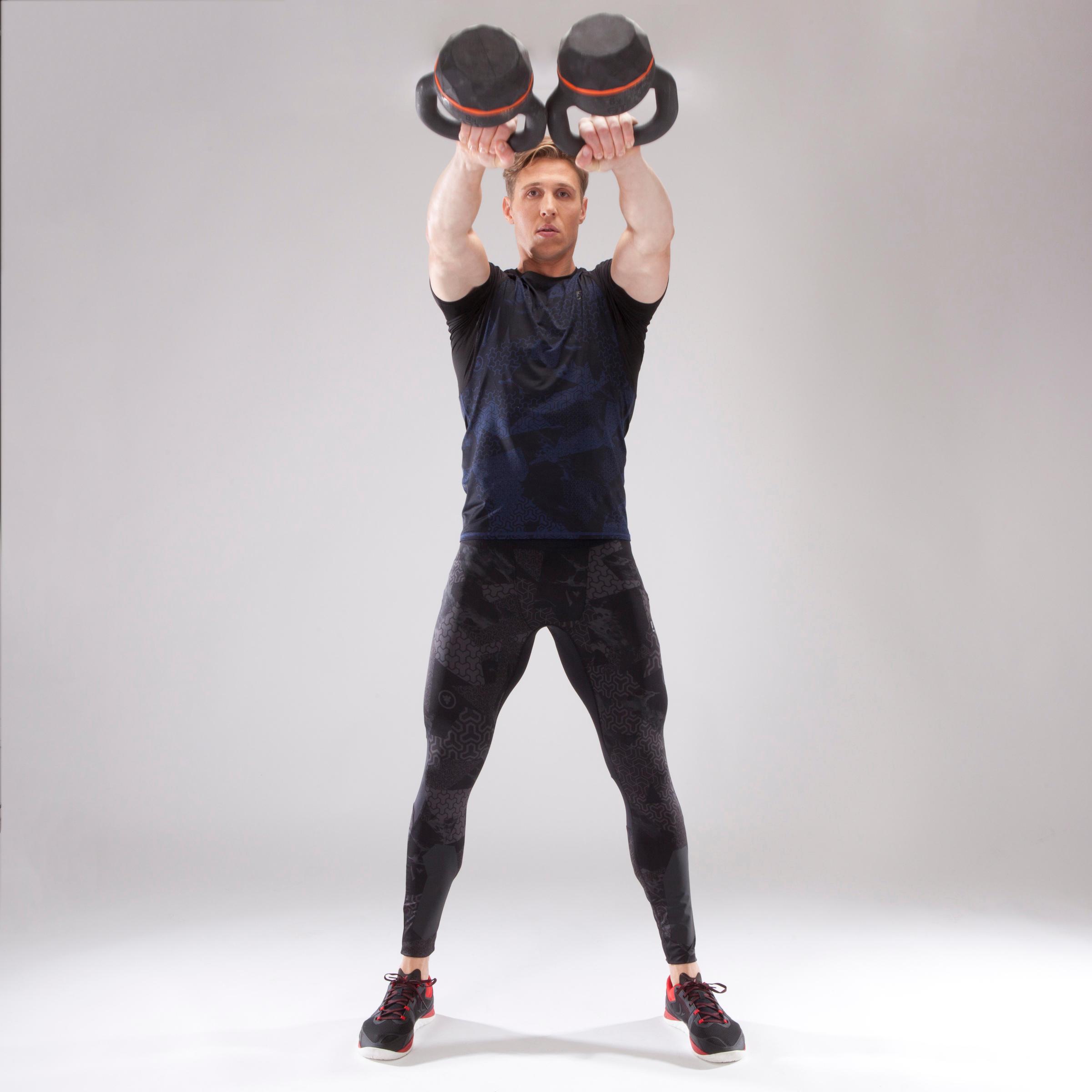 500 Cross-Training Leggings - Black/Print