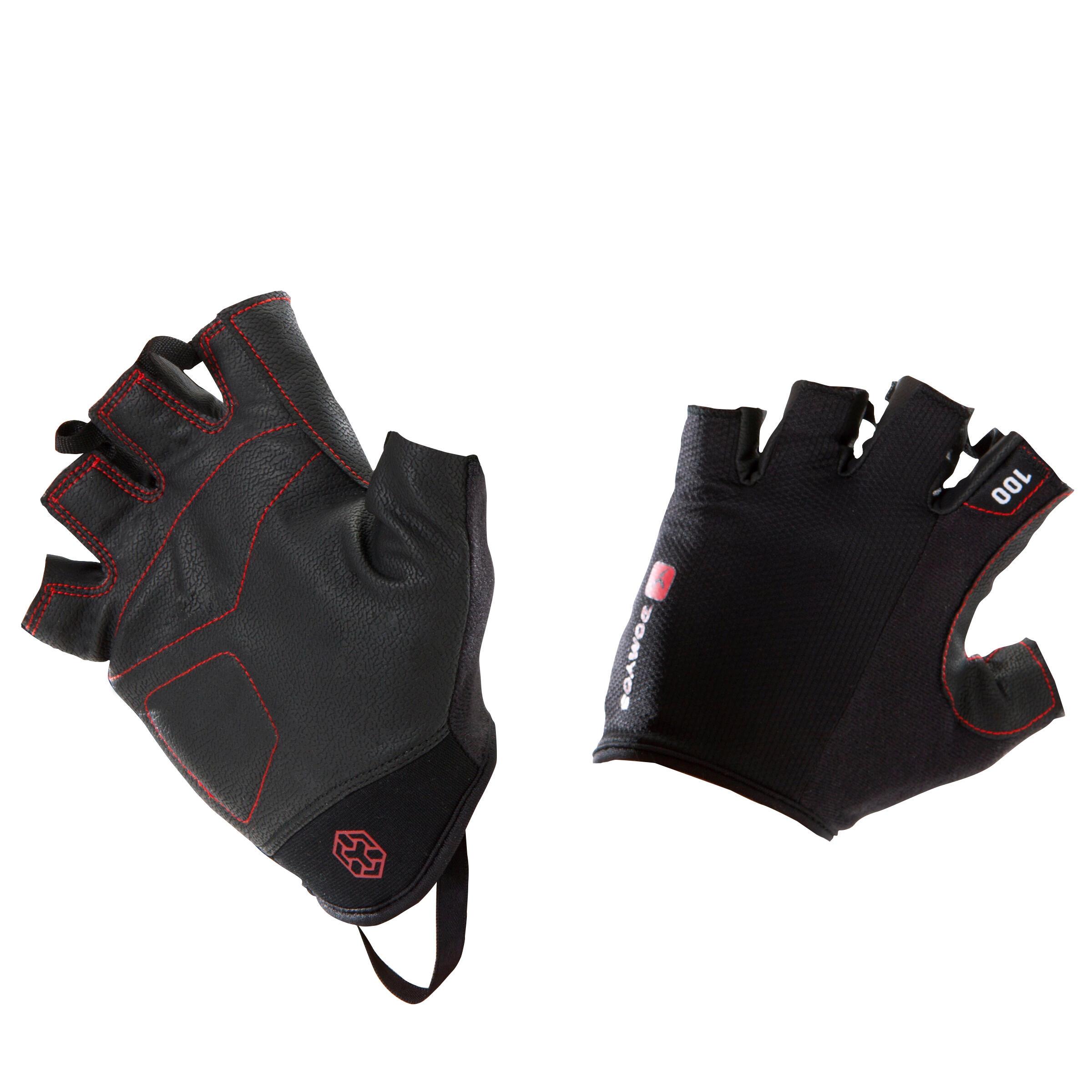 Domyos Handschoen voor krachttraining 100 Domyos zwart/rood