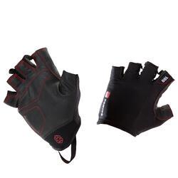 重量訓練運動手套 100 - 黑色/紅色