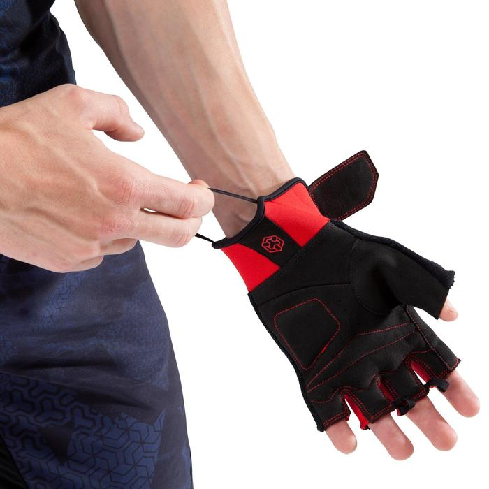 Gant musculation 500 noir rouge