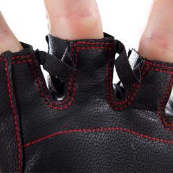 Fitness handschoenen 100 krachttraining, zwart/rood