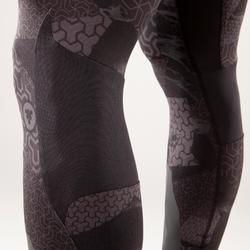 LEGGINGS CROSSTRAINING 500 HOMBRE NEGRO/ESTAMPADO