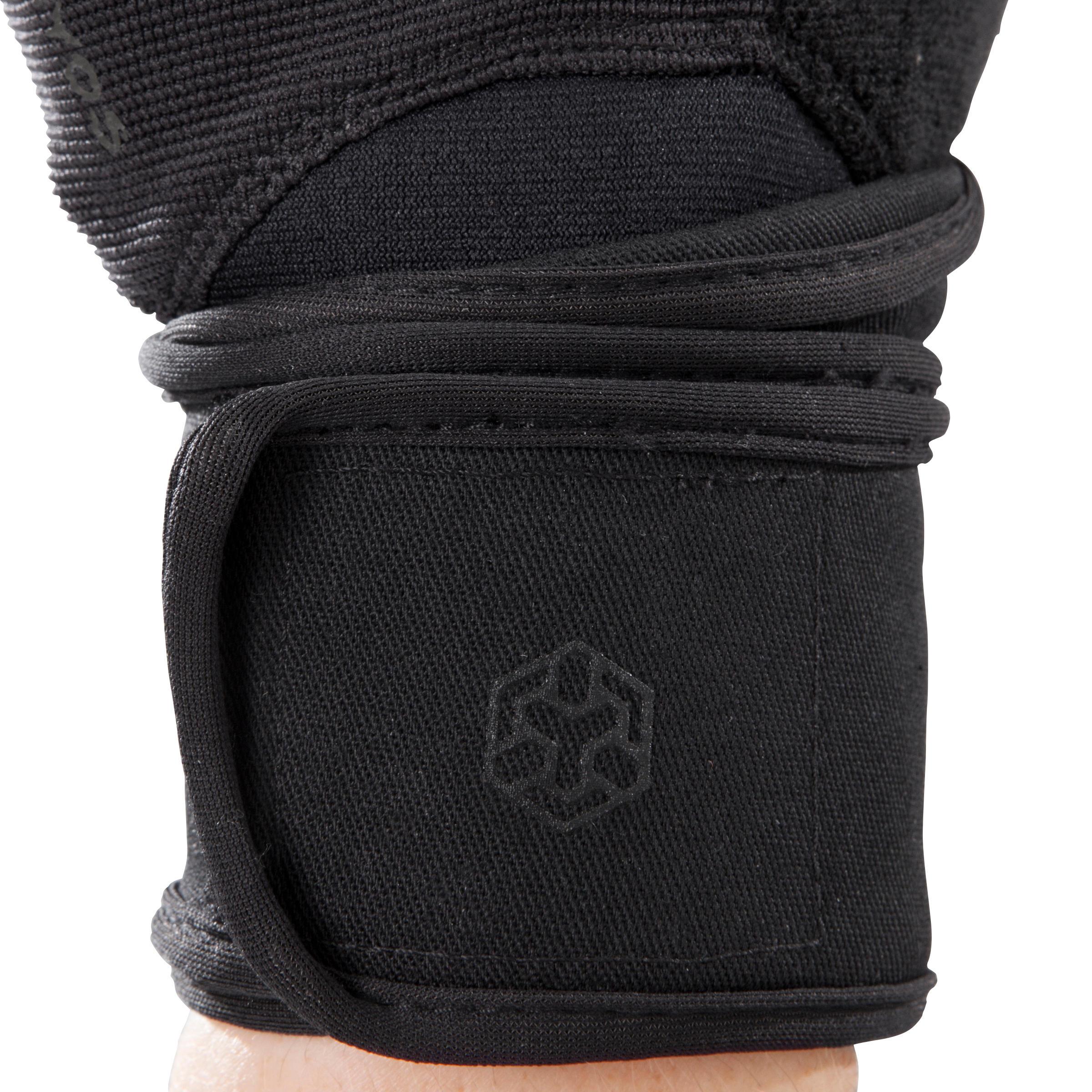 Black//Grey DOMYOS 900 Weight Training Glove with Double Rip-Tab Cuff