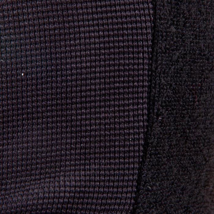 Gant musculation poignée noir gris serrage double velcro - 1256732
