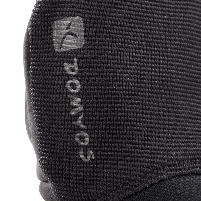 Gant musculation poignée noir gris serrage double velcro - 1256735