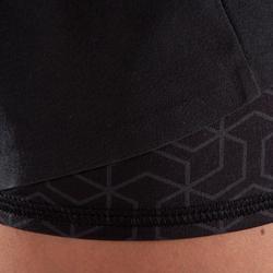 女款交叉訓練短褲500-黑色