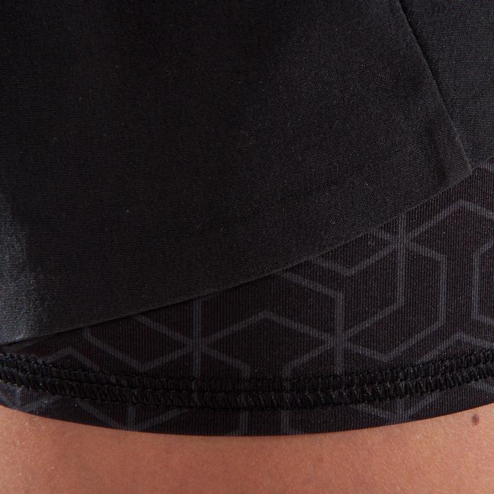 Pantalón Corto Chándal Cross Training Domyos Mujer Negro 500