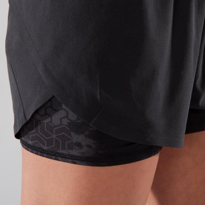 Sporthose kurz 500 Crosstraining Damen schwarz