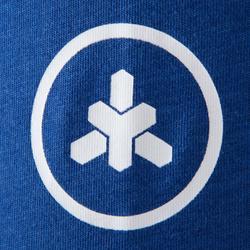 Camiseta Manga Corta Cross Training Musculación Domyos 500 Hombre Azul