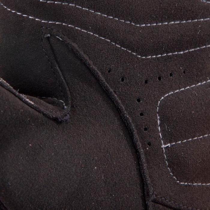 Gant musculation poignée noir gris serrage double velcro - 1256770