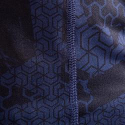 Fitness shirt 500 compressie voor heren, zwart/blauw