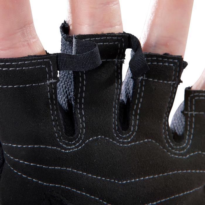domyos gant musculation poign e noir gris serrage double velcro decathlon. Black Bedroom Furniture Sets. Home Design Ideas
