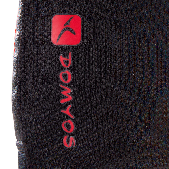 Weight Training Gloves 100- Black with Red