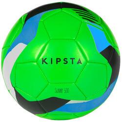 Balón de fútbol Sunny 500 talla 5 verde azul negro