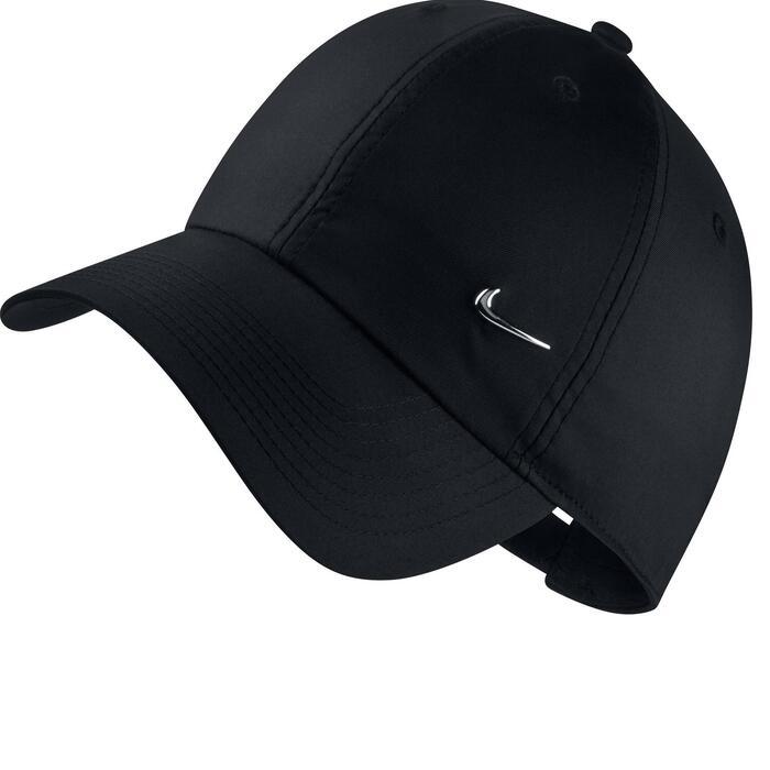 Gorra plana Cardio Fitness Nike metal swoosh adultos negro