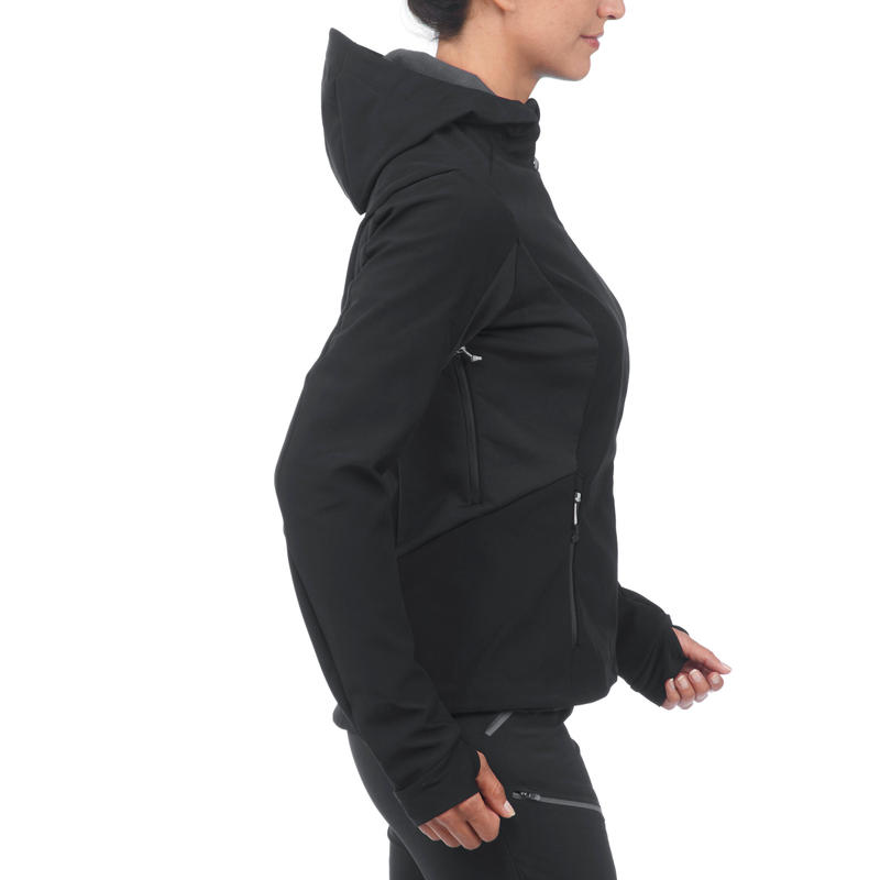 5333bb535ee Women s TREK 900 softshell black trekking jacket