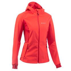 Softshelljas voor trekking in de bergen Trek 900 Windwarm dames rood