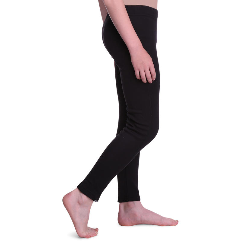 Children's skiing base layer bottoms 100 - black
