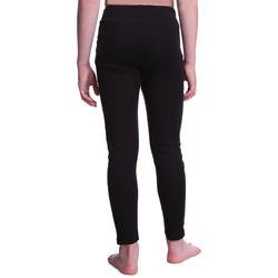 Kids' Base layer ski bottoms 100 - Black