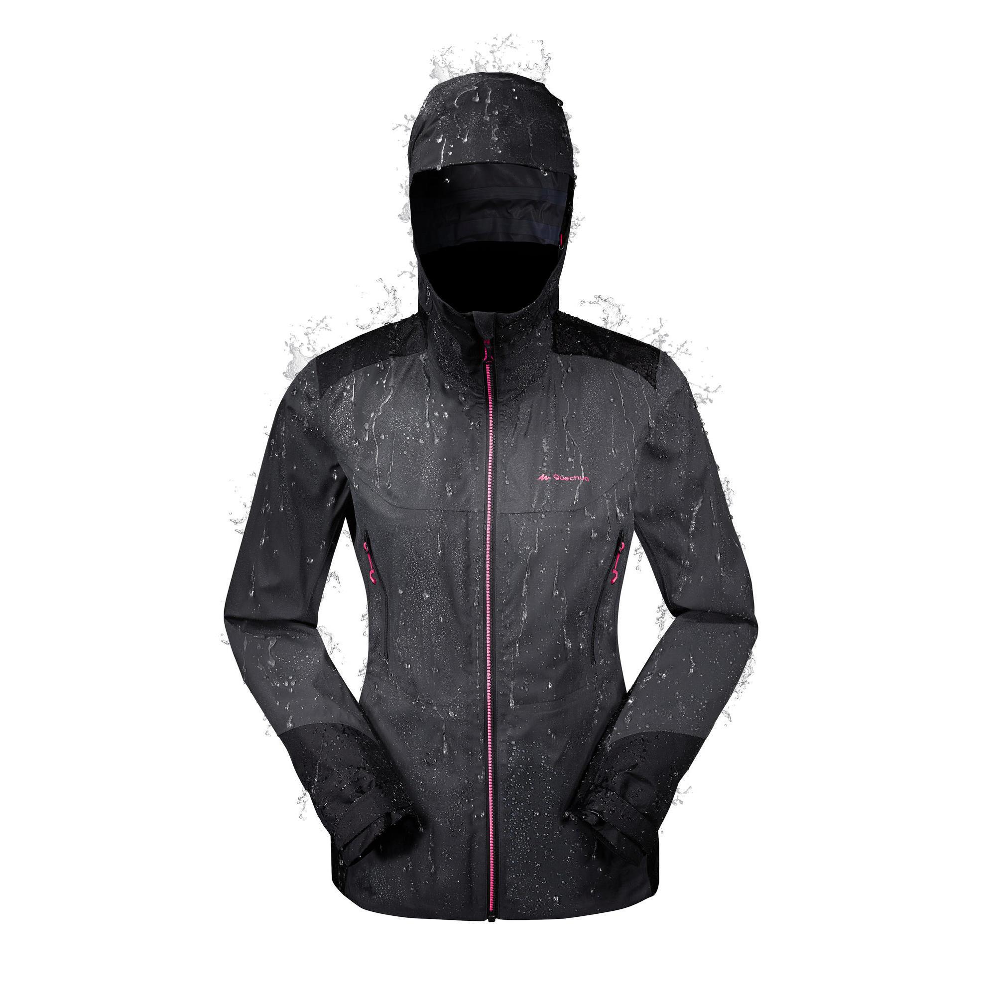 quechua veste de pluie imperm able de randonn e montagne. Black Bedroom Furniture Sets. Home Design Ideas