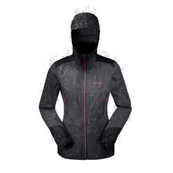 MH900 Women's Mountain Hiking Waterproof Jacket - Black