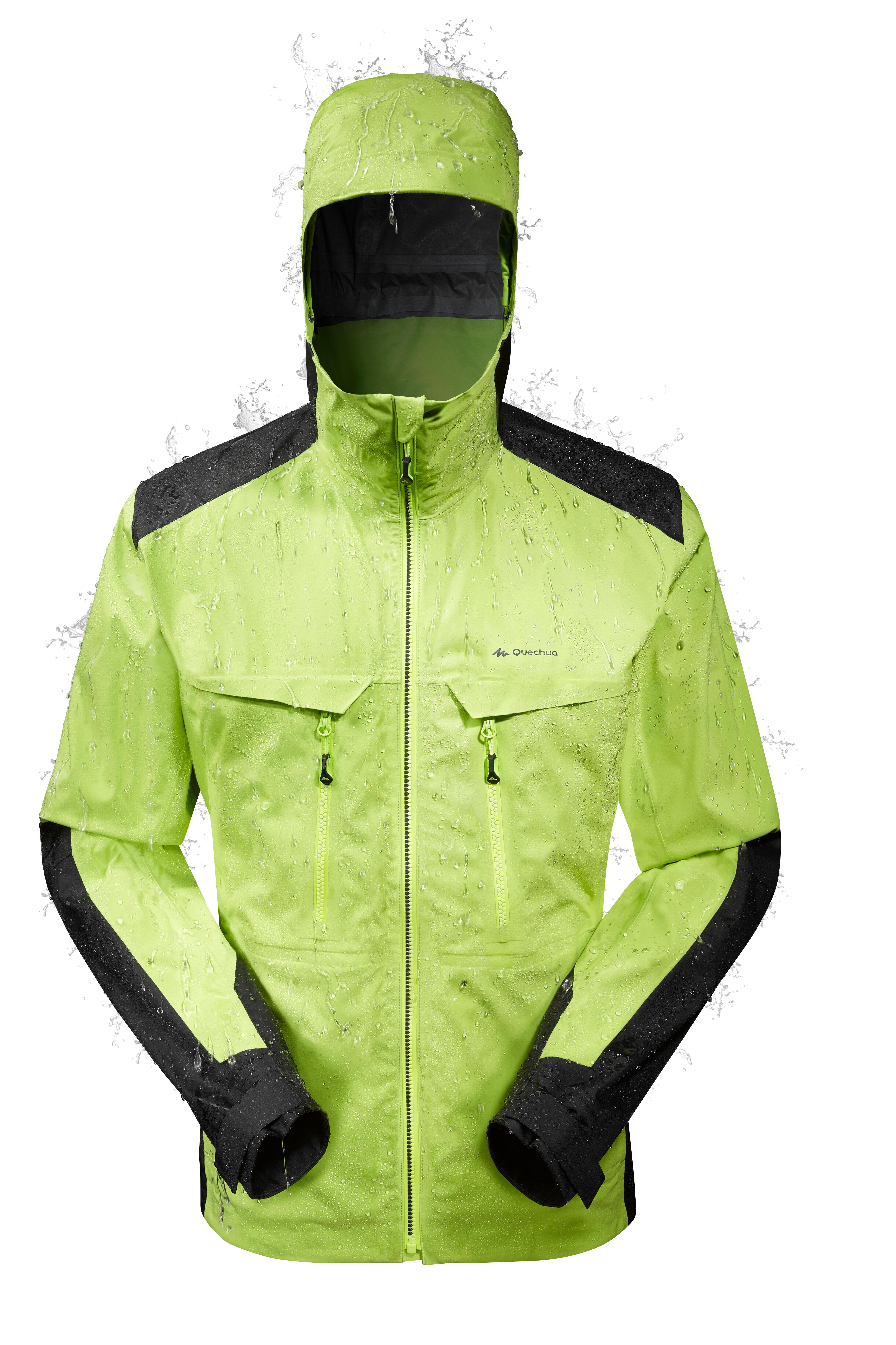 MH900 Men's Waterproof Mountain Hiking Rain Jacket - Green Black
