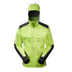 MH900 Men's Waterproof Mountain Hiking Rain Jacket - Green Black