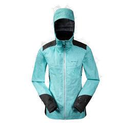 MH900 女款防水登山健行雨衣夾克 – 綠松石色綠色