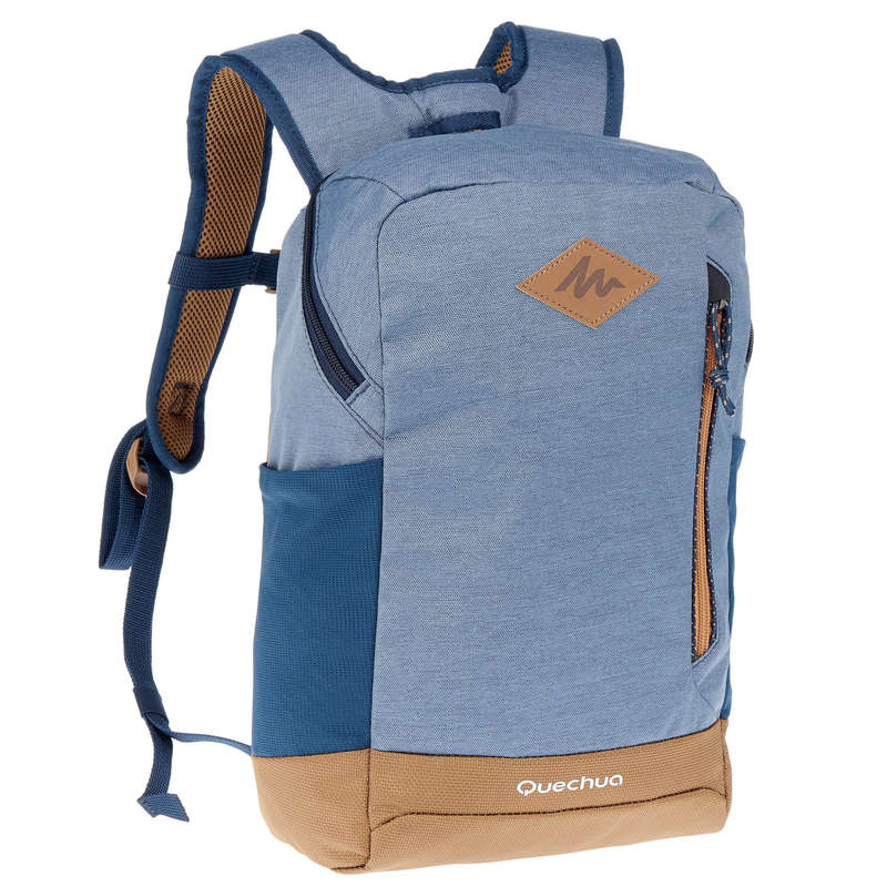 10L TO 30L NATURE HIKING BACKPACKS Hiking - NH500 10L Backpack - Blue QUECHUA - Hiking Backpacks and Bags