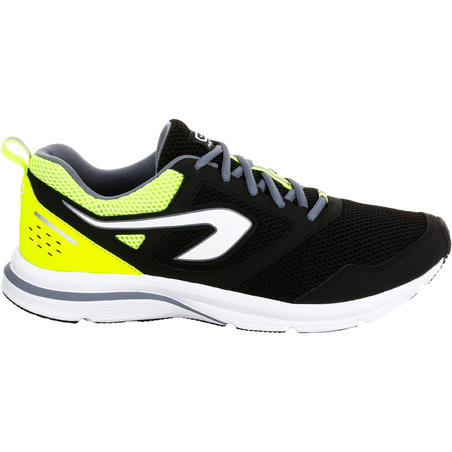RUN ACTIVE MEN'S RUNNING SHOE - BLACK/YELLOW