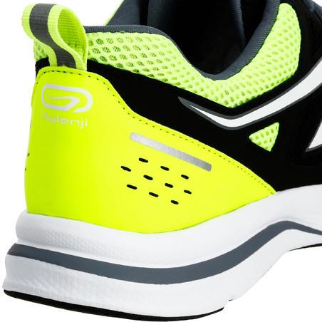RUN ACTIVE MEN'S RUNNING SHOES - BLACK/YELLOW