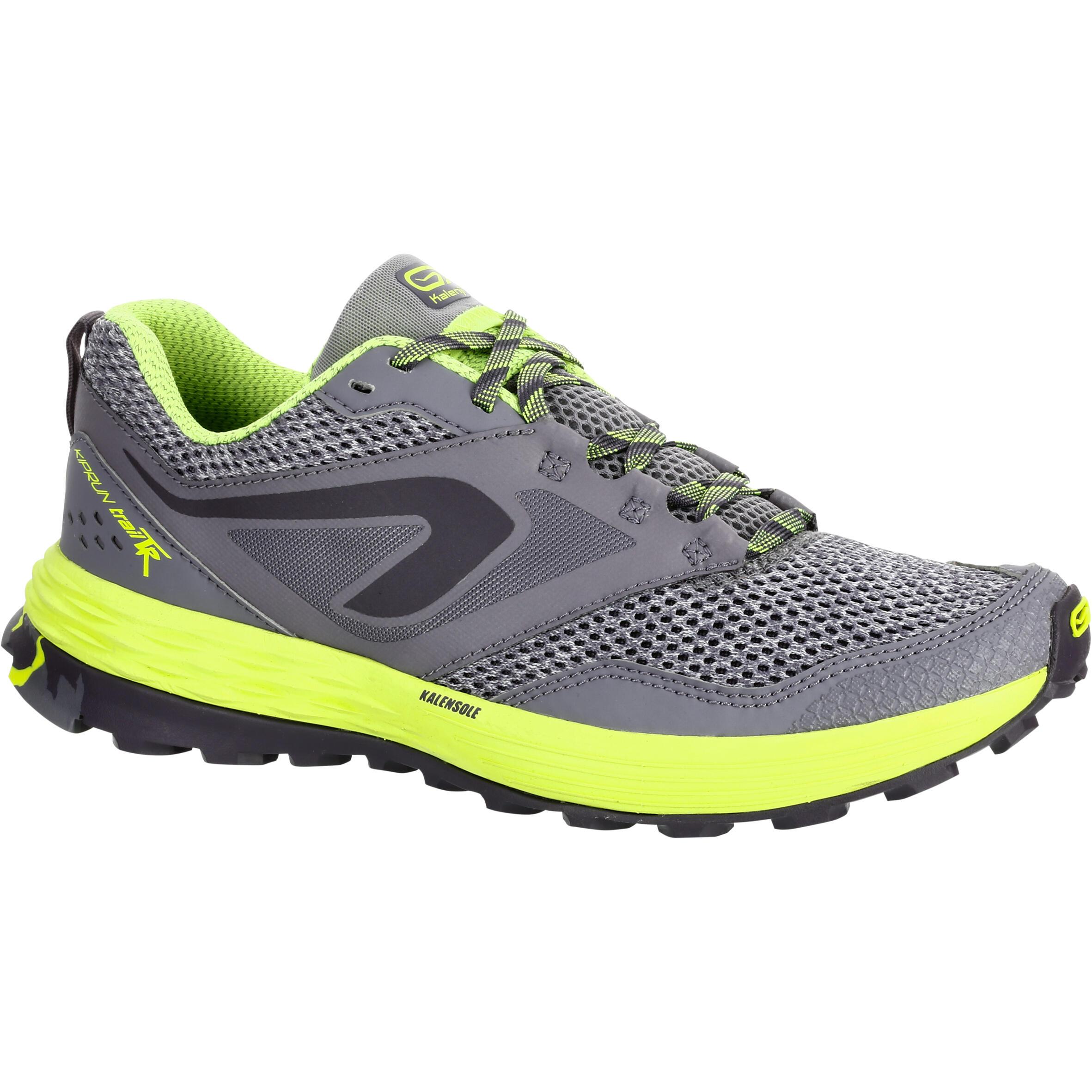 2508935 Kalenji Trailschoenen dames Kiprun Trail TR grijs geel