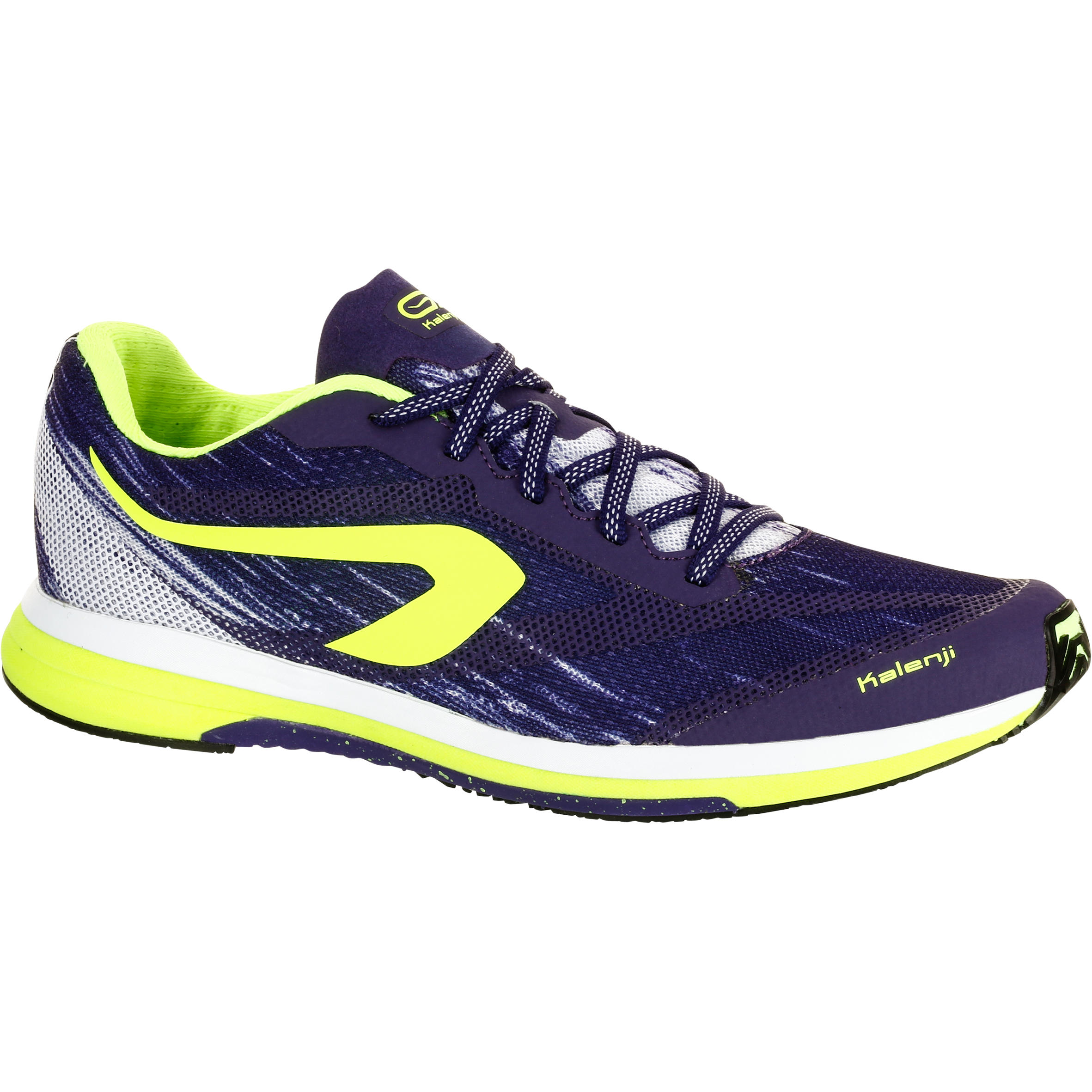 KIPRUN RACE KALENJI WOMEN'S SHOE PURPLE YELLOW