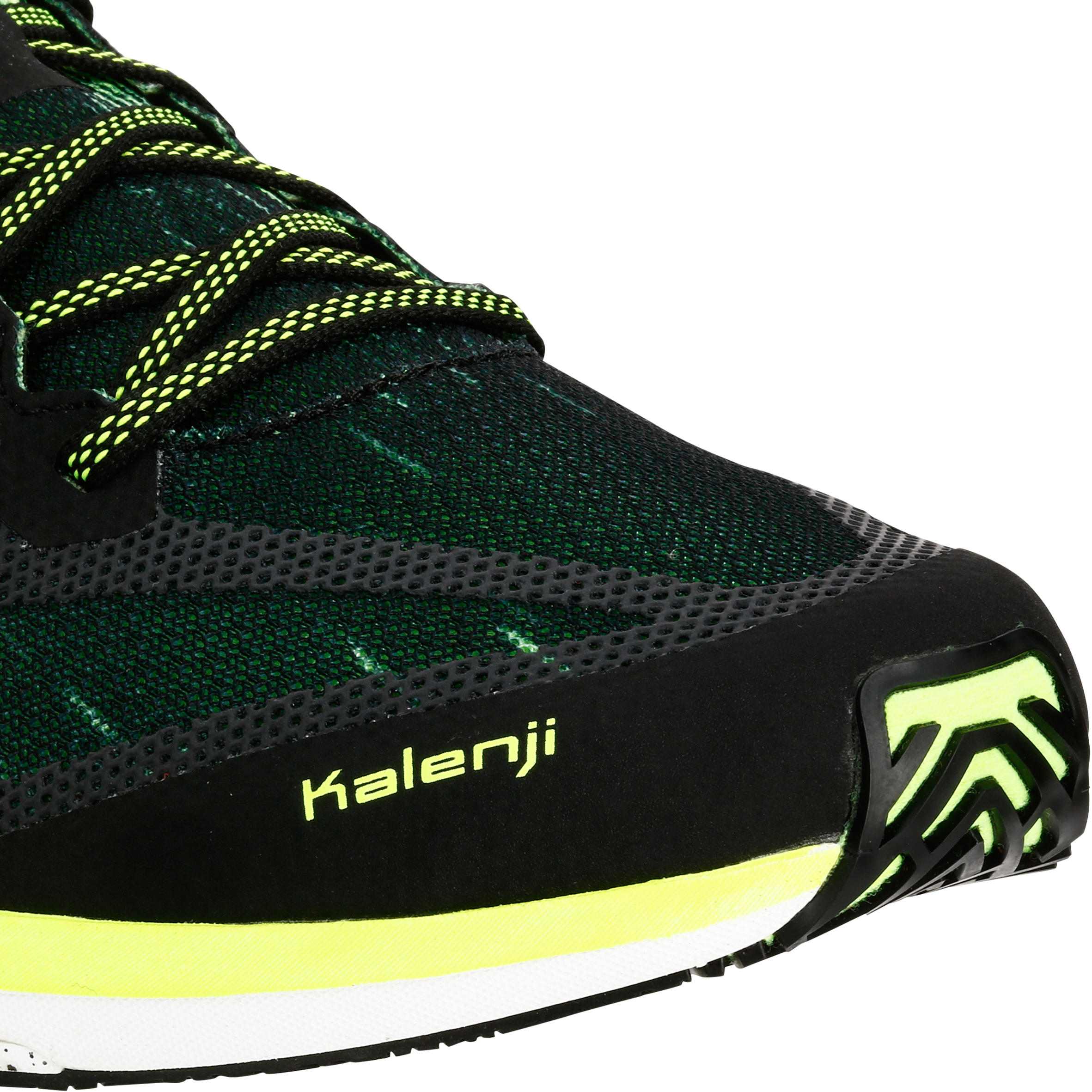 KIPRUN RACE MEN'S RUNNING SHOES - BLACK/YELLOW