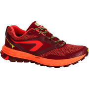 KIPRUN TRAIL TR WOMEN'S TRAIL RUNNING SHOES - PINK/MAROON