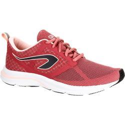 Hardloopschoenen voor dames Run Active Breath grijs/koraal