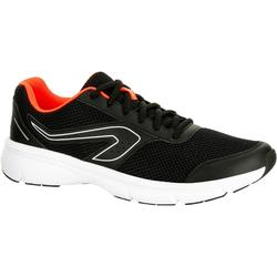 RUN CUSHION MEN'S RUNNING SHOES BLACK ORANGE