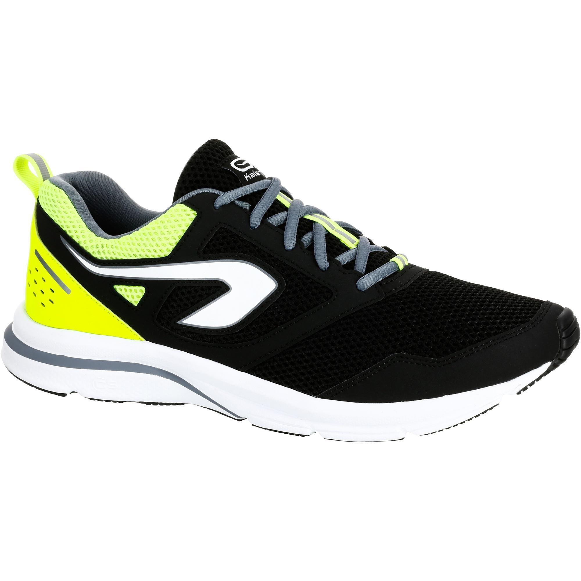 Kalenji Joggingschoenen voor heren Run Cushion Grip zwart/geel kopen