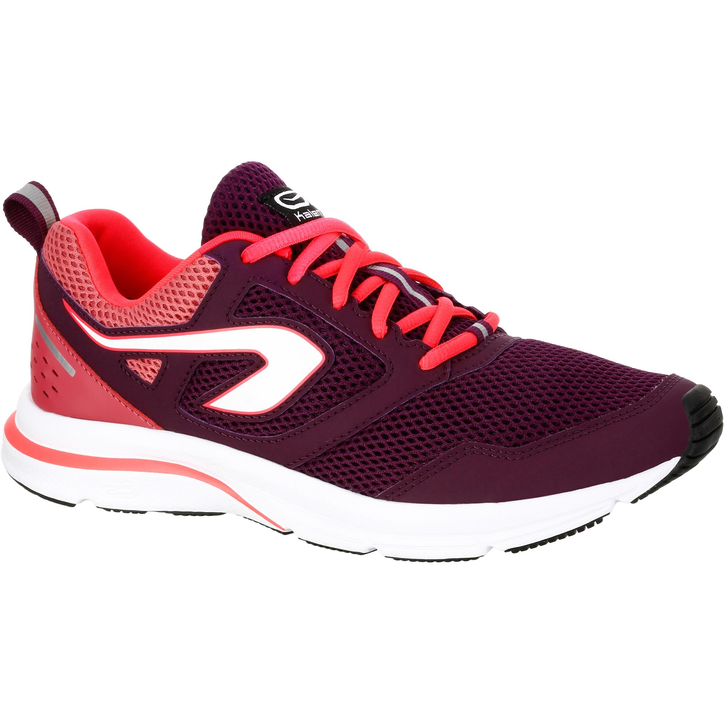 Kalenji Hardloopschoenen voor dames Run Active bordeauxrood roze