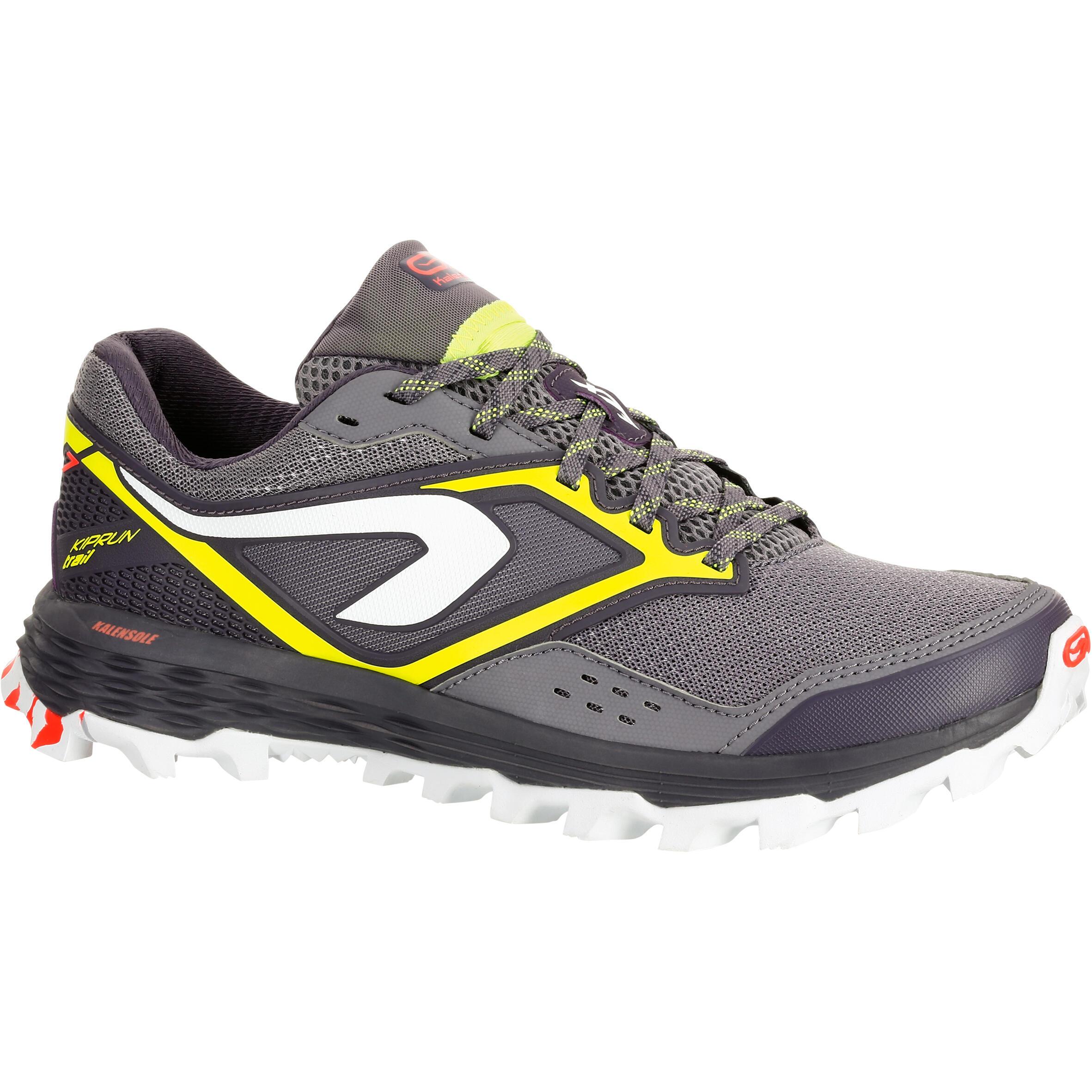 Kalenji Trailschoenen voor dames Kiprun Trail XT 7 grijs geel