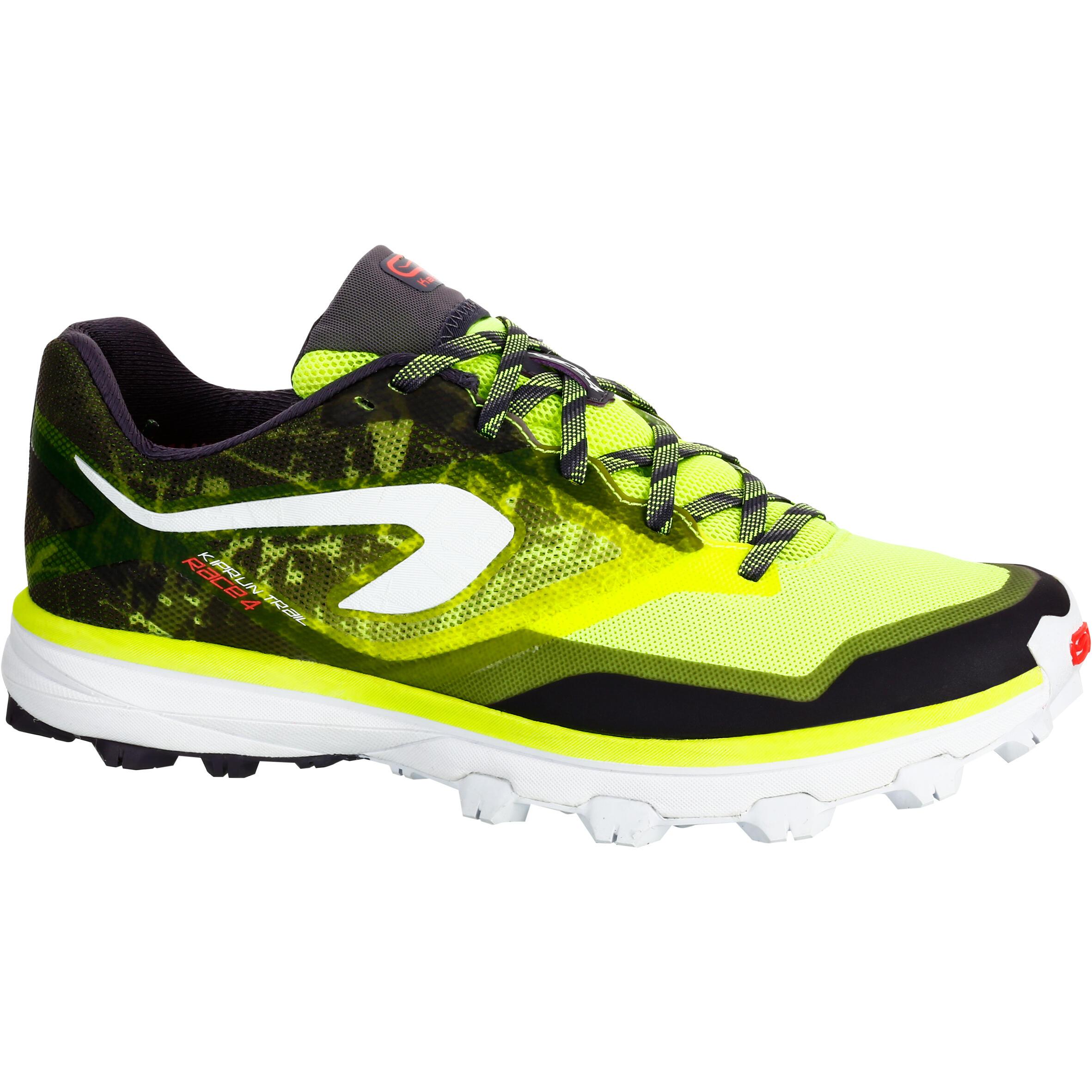 2500829 Kalenji Trailschoenen dames Kiprace Trail 4 geel zwart