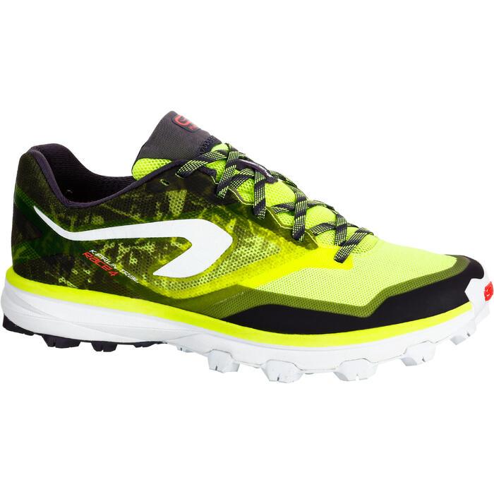 Trailschoenen dames Kiprace Trail 4 geel zwart