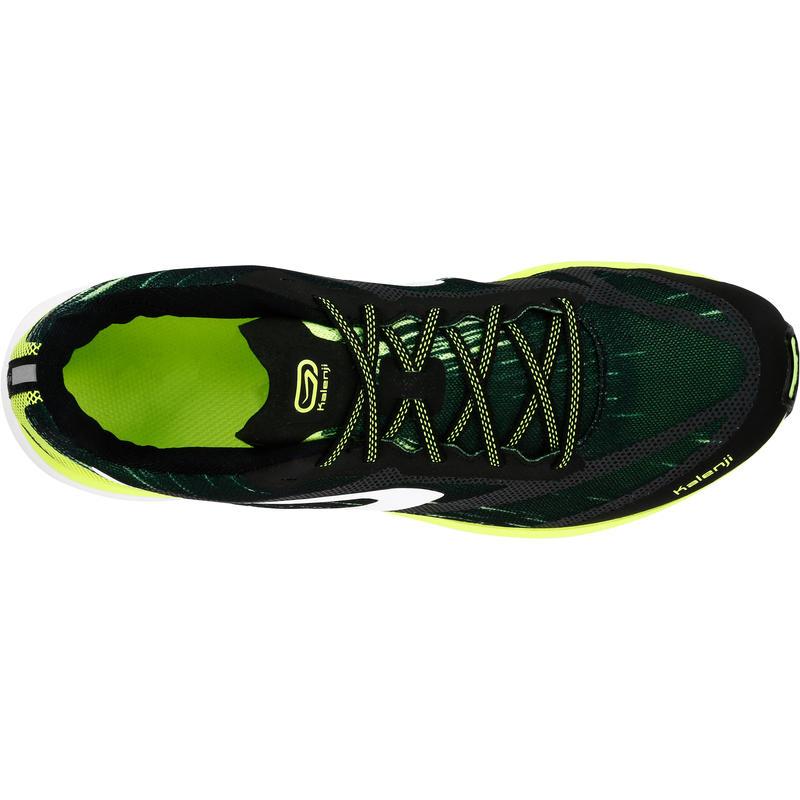 vente chaude authentique chaussures de séparation grand choix de 2019 KIPRUN RACE MEN'S RUNNING SHOES - BLACK/YELLOW