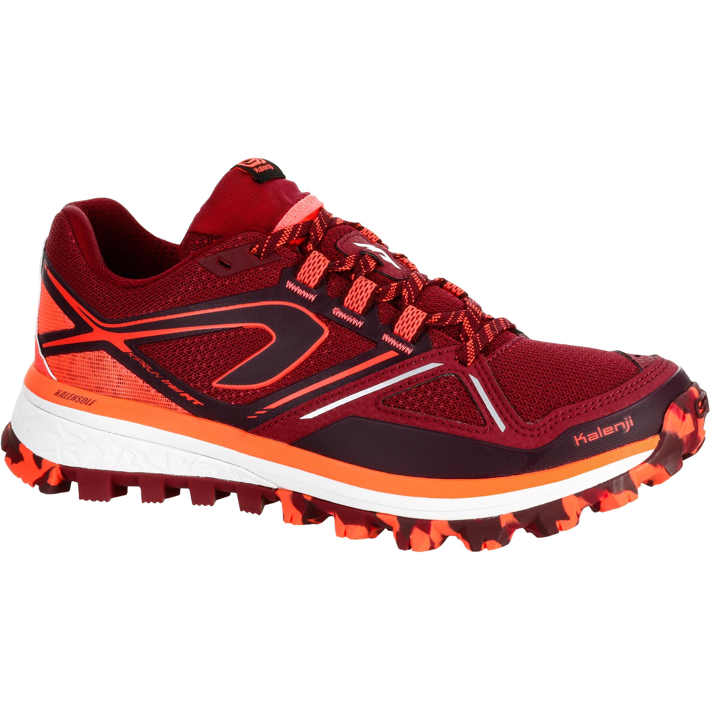 2501074 Kalenji Trailschoenen voor dames Kiprun Trail MT bordeaux