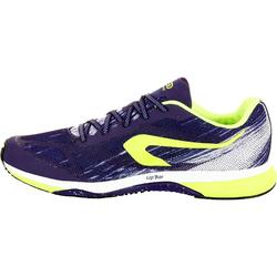 Laufschuhe Kiprun Race Damen violett/gelb
