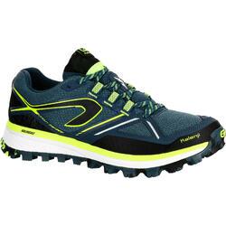Trailschoenen voor heren Kiprun Trail MT blauw geel