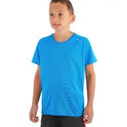 Wandelshirt voor jongens Hike 100 blauw