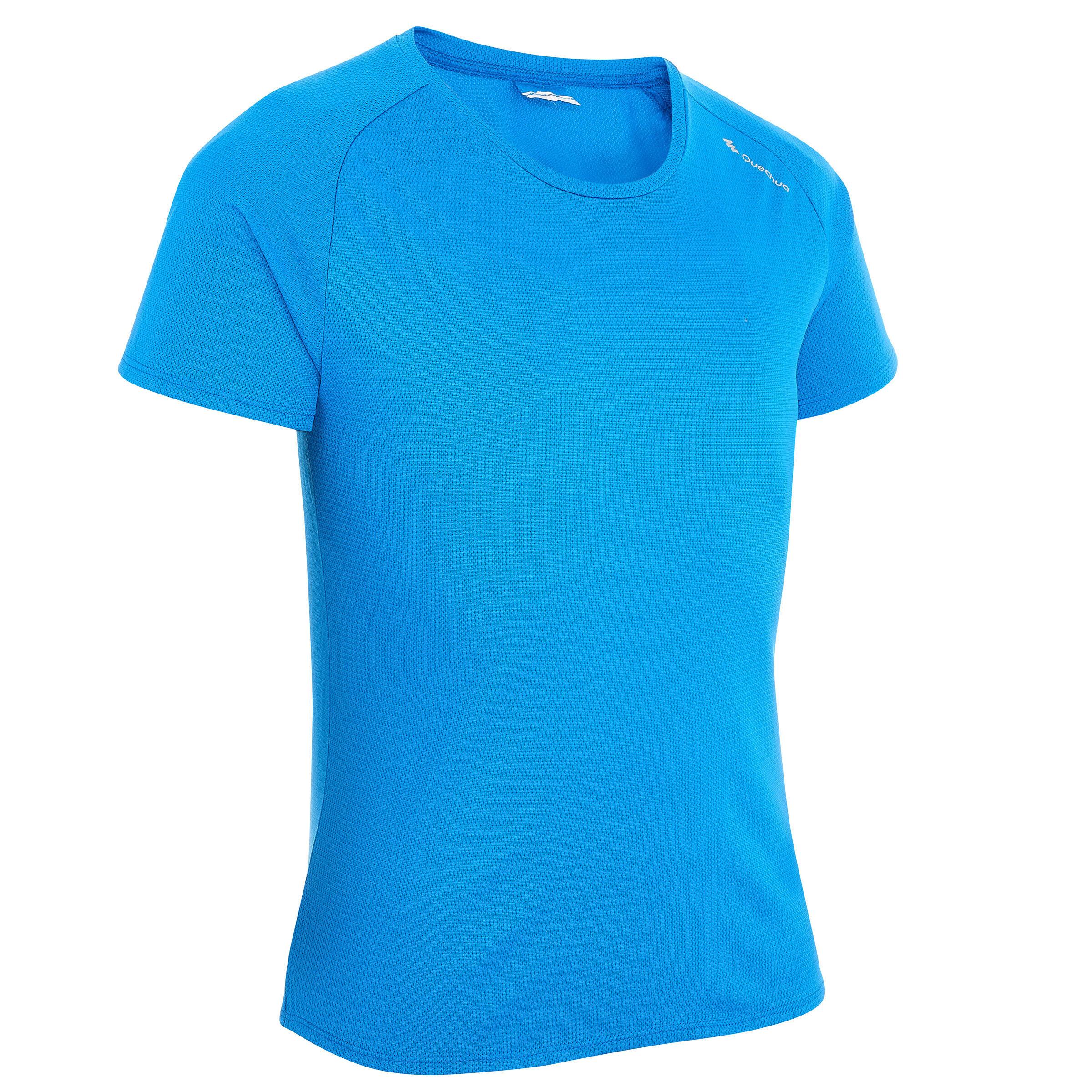 Playera de senderismo niño Hike 100 azul