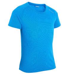 T-shirt de Caminhada criança Hike 100 Azul